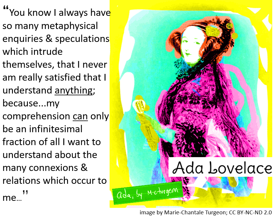 Ada Lovelace picture and quote