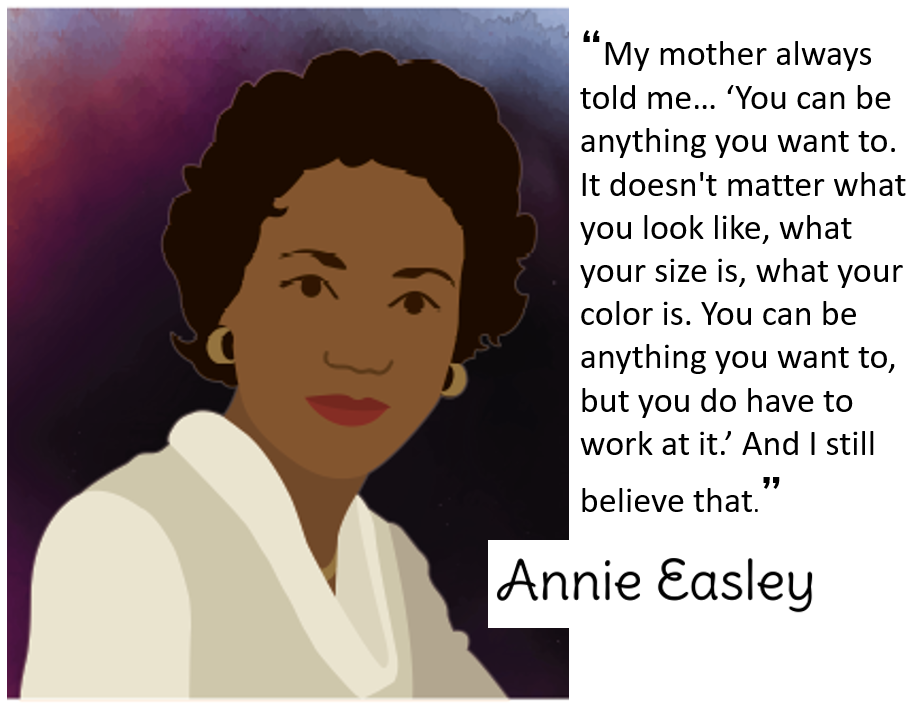 Annie Easley image and quote