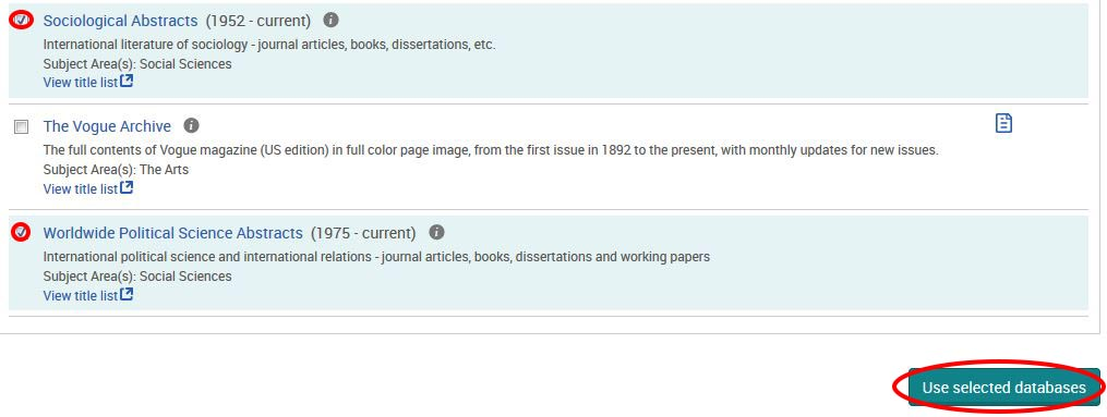 Home - How to use ProQuest Database - ULibraries Research
