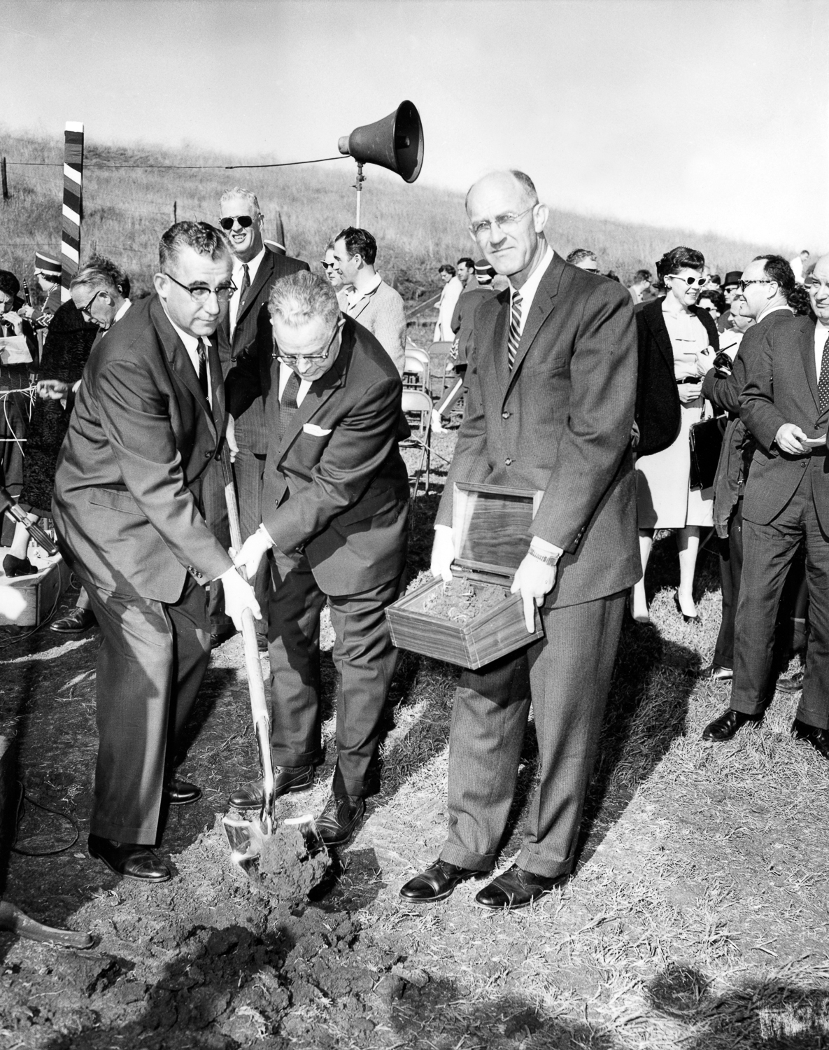 Groundbreaking ceremonies for new hilltop campus, February 22, 1961