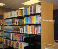 Textbooks area of Education library