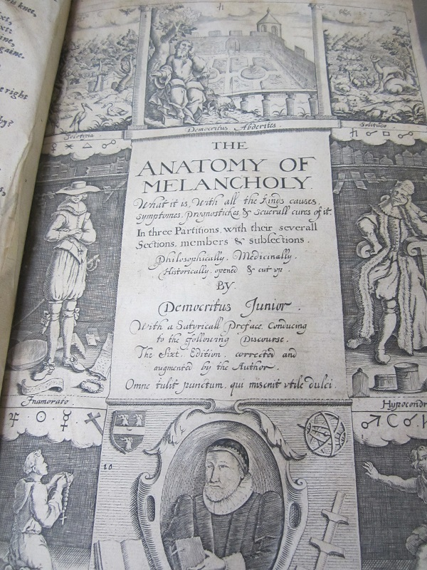 Anatomy of Melancholy - Introduction to Shakespeare - Oakland Campus ...