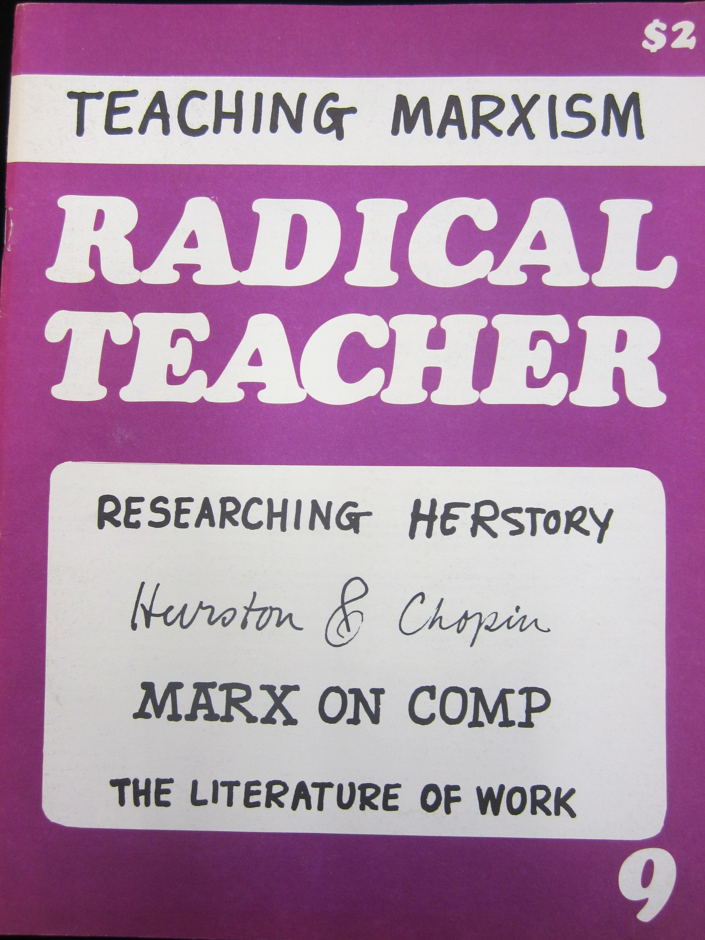 Cover of Issue 9 of Radical Teacher