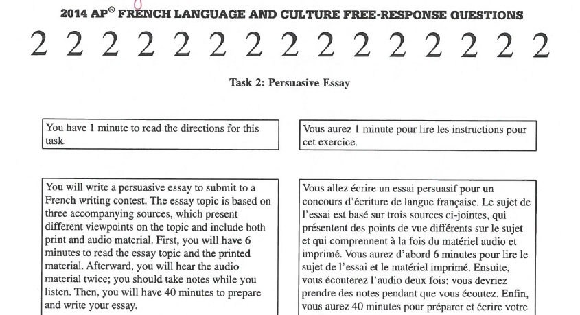 home ap french libguides at trinity high school pa  2014 persuasive essay directions