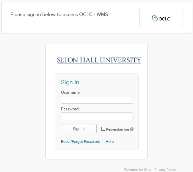 login screen with fields for username and password, as well as a sign in button and a link for resetting your password