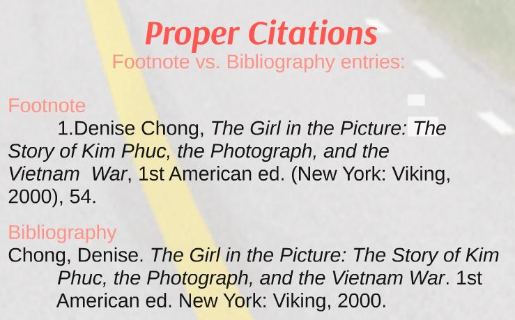Footnotes Vs Bibliography Page Writing Center Libguides At Hood