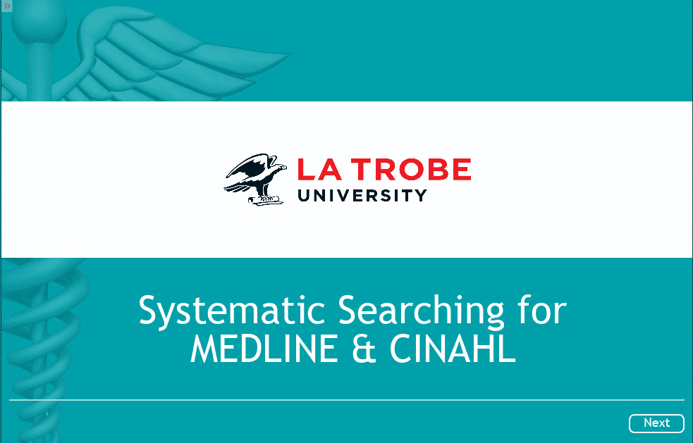 Systematic search MEDLINE & CINAHL