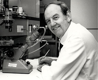 James W. Fisher, PhD in Lab.- image from Matas PR File, Fisher James W. Bio