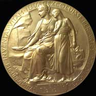 Louis J. Ignarro, Ph.D. image of Nobel Prize in Phyhsiology or Medicine (1988)- Medal replica in Matas Collection.