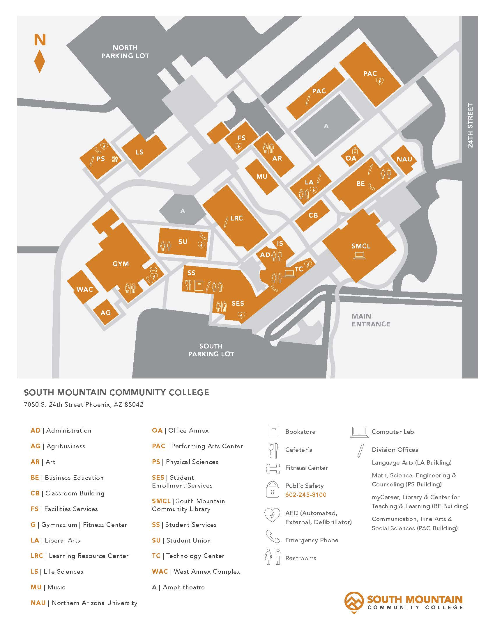 South Mountain Community College Campus Map.Maps Directions Parking About The Library Libguides At South