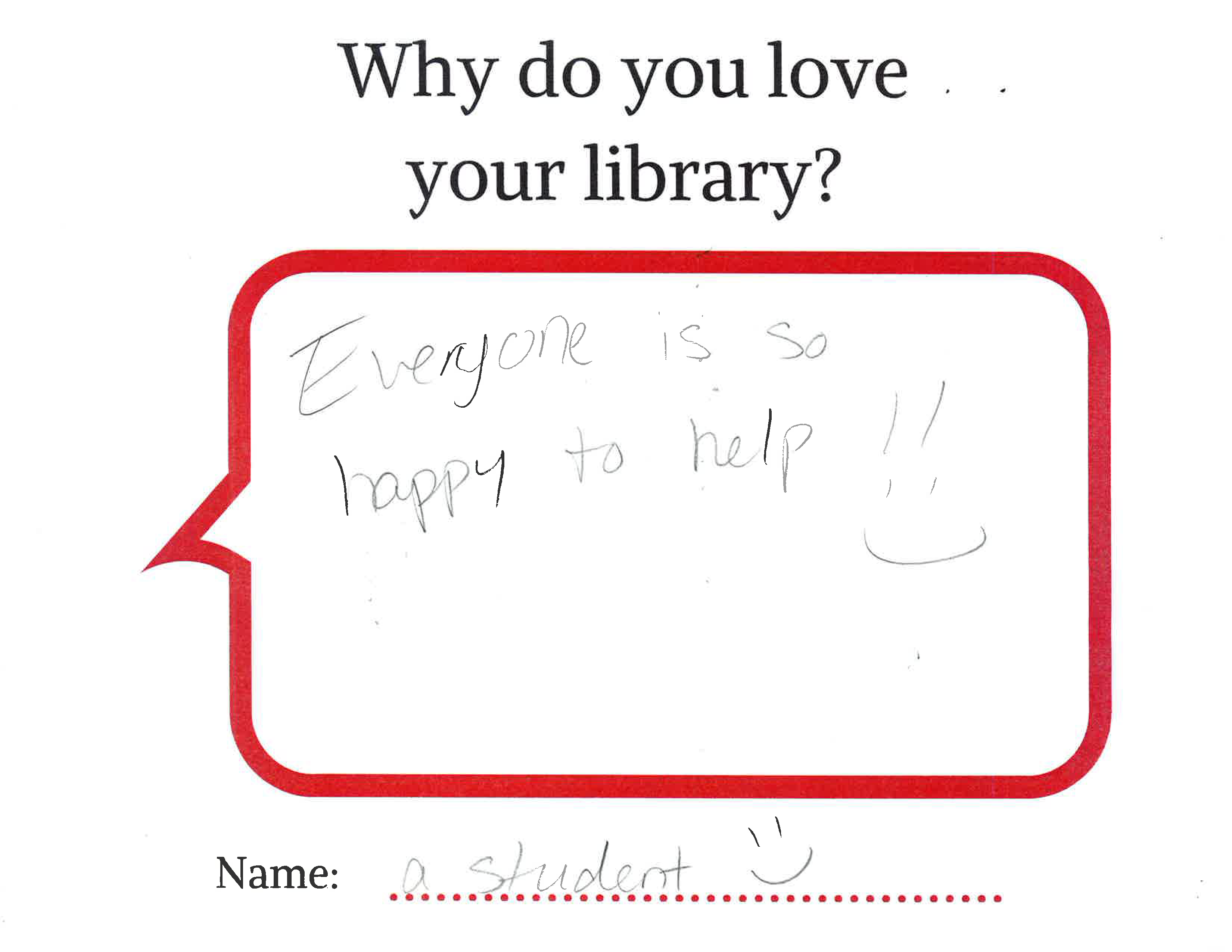 Why do you love your library?