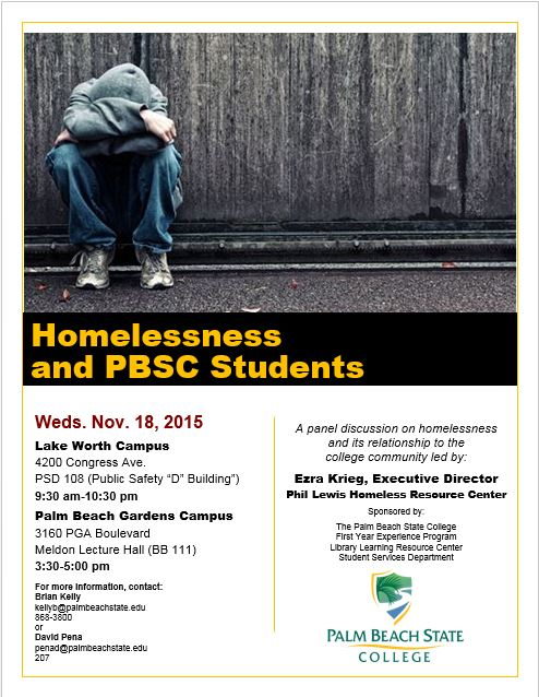Nov. 18th Special Event: Homelessness Panel Discussion