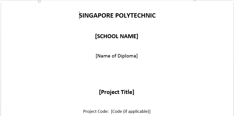 project title page template