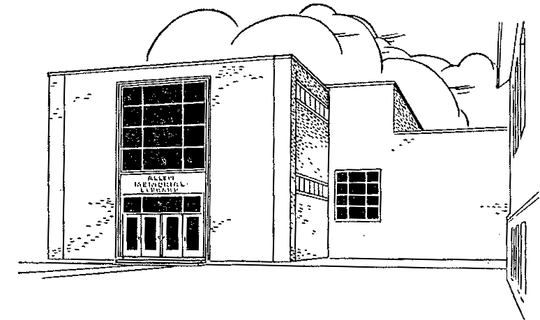 Allen Memorial Library line drawing