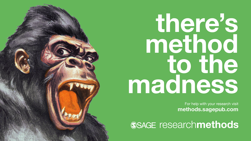 "A picture of a gorilla and the text ""There's method to the madness"""