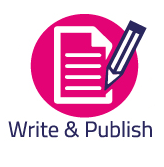 Research Cycle logo for Write and Publish.