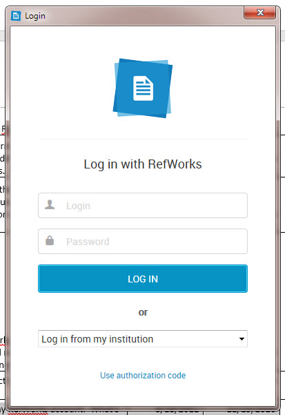 A screenshot of the login box for Write-n-Cite 4