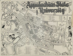 Campus map of Appalachian State University
