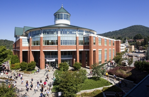 The Belk Library, located on campus at Appalachian State University.