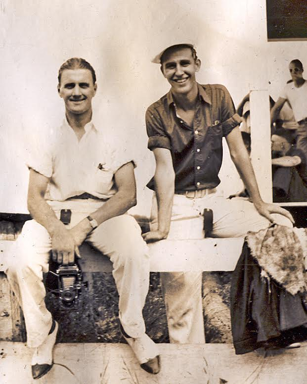 Len Milde (right) with Al Blixt