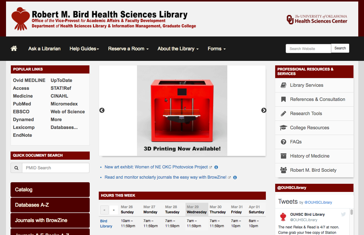 OUHSC Library Homepage