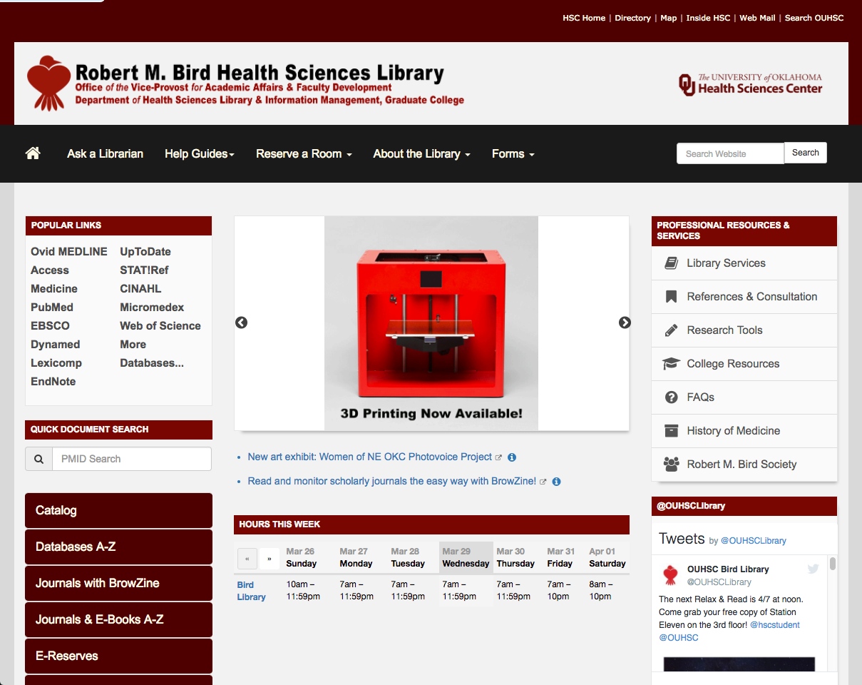 OUHSC Library Website