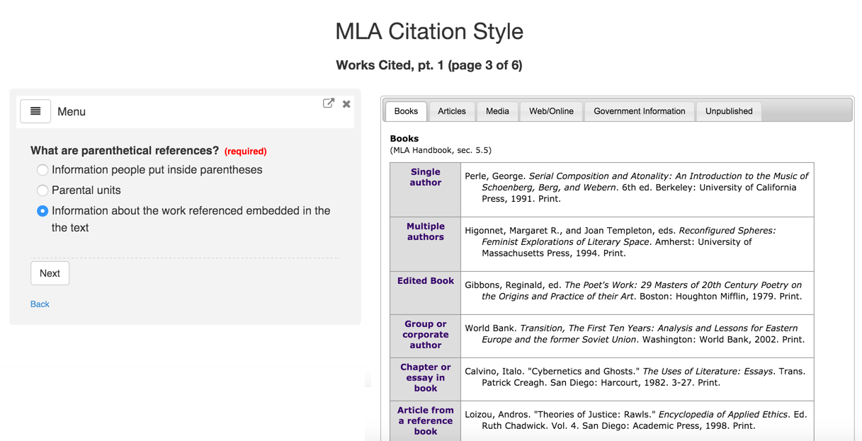 MLA Citation Tool