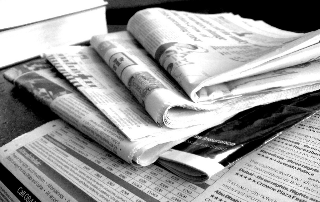research on news paper