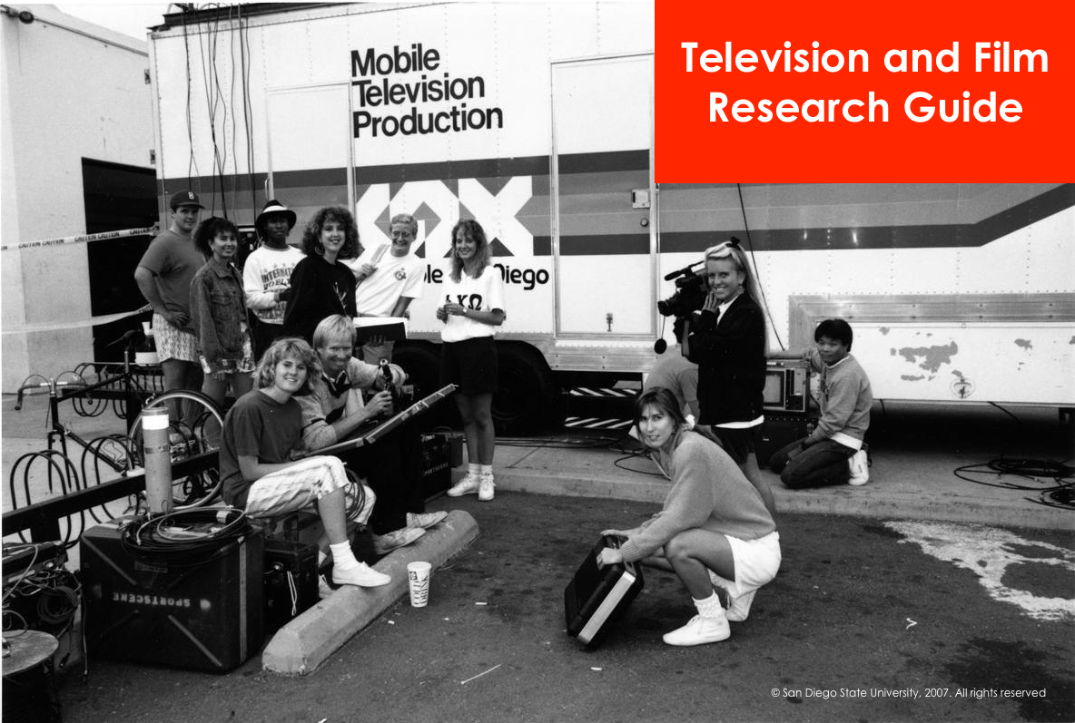 Historic image of SDSU students on a mobile television production team