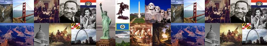 A collage of American icons and symbols.