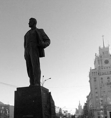 "Photo: Maiakovsky Square, Moscow, July 26, 2014. Collection of the Research Program ""History of Dissidence in the USSR"". (""Memorial"" Society). Photo by A. A. Kirziuk."