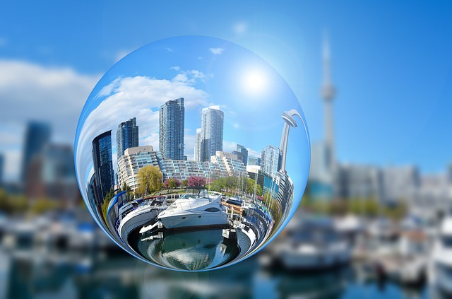 Image of Toronto harbour and skyline