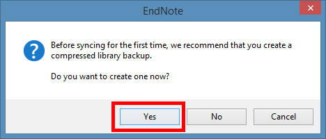 screenshot of dialog which suggests creating a backup file