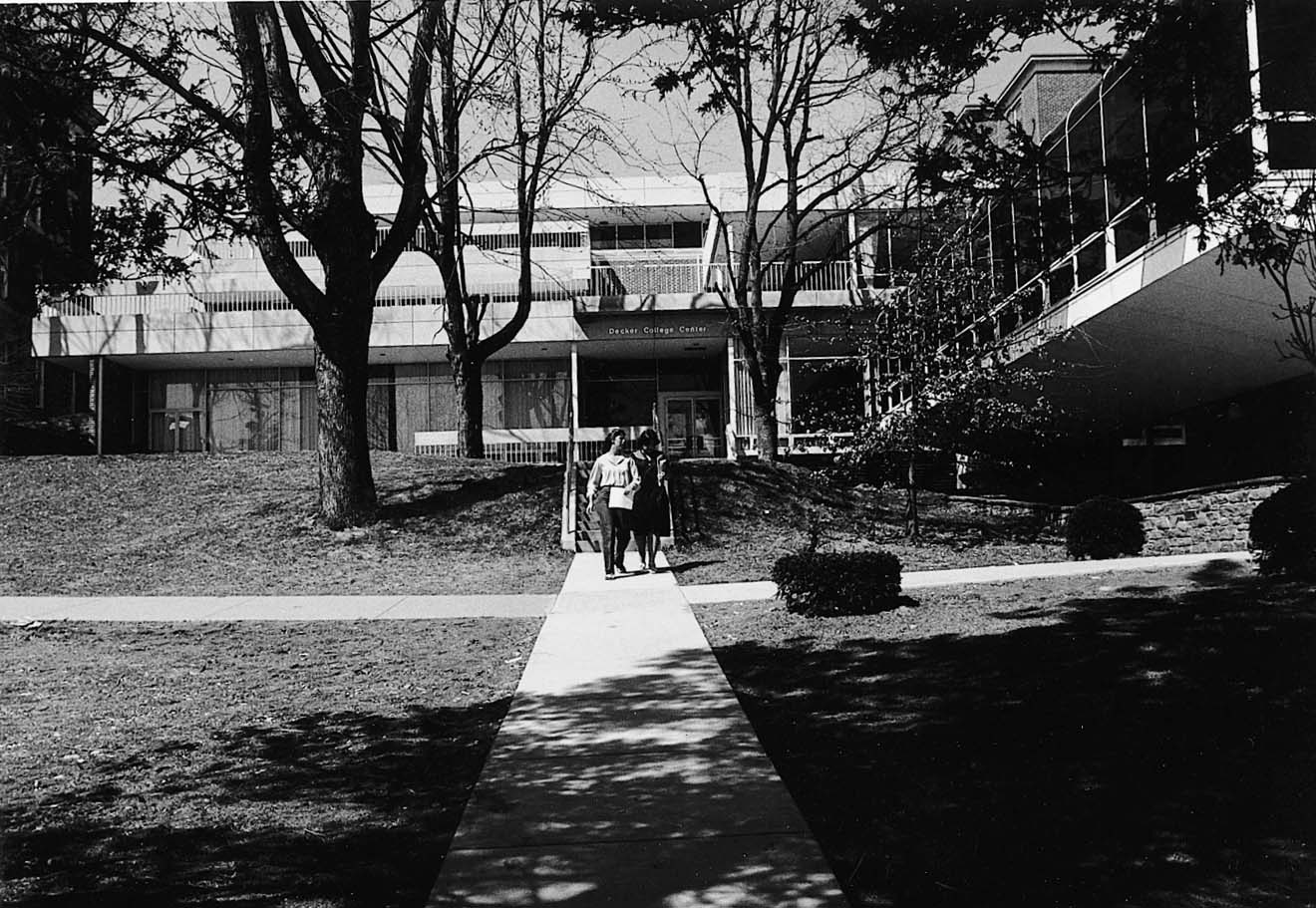 South side of Decker College Center circa 1980