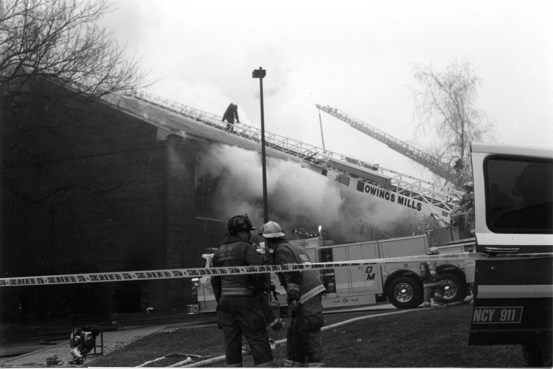 Gill damaged by fire