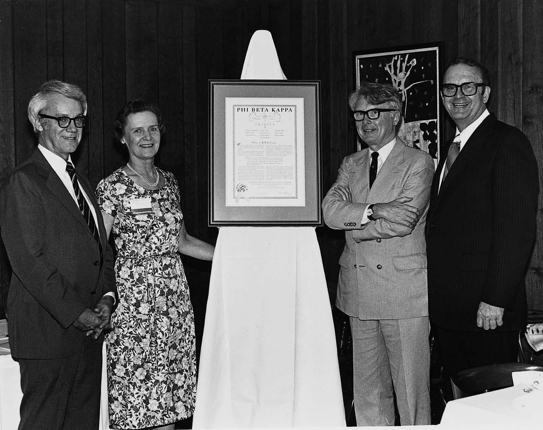 Presentation of Phi Beta Kappa Charter