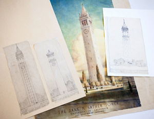 John Galen Howard's Sather Tower illustrations