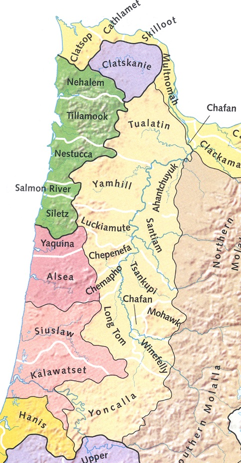 Native American Map Before Colonization.Home The Kalapuya Native Americans Of The Willamette Valley