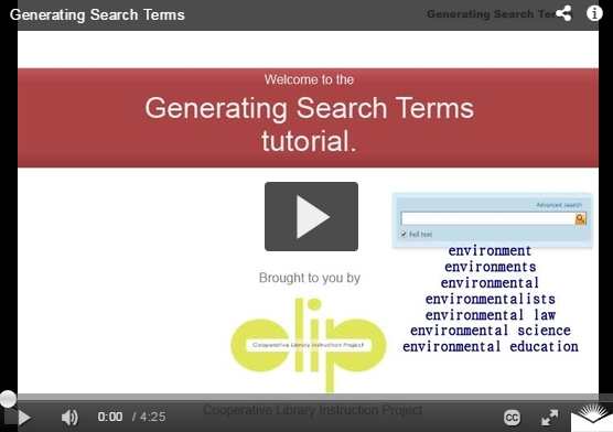Generate effective search terms for Internet or database searching.