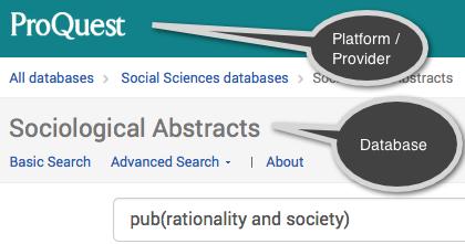 Databases - Sociology Graduate Student Resources - LibGuides