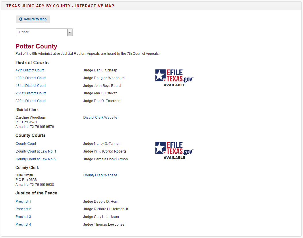 Amarillo Courts & 7th Court of Appeals - Texas Courts and