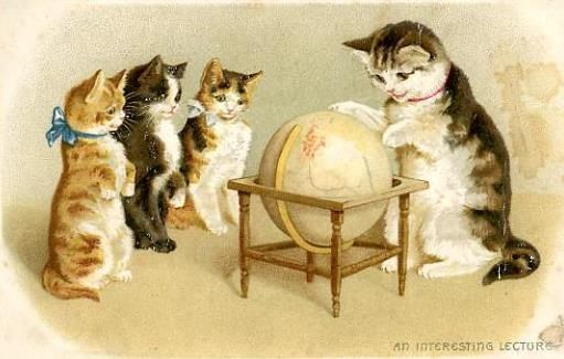 Not an actual WorldCat; just a cat with a globe