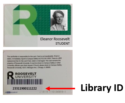Photo of a student ID card