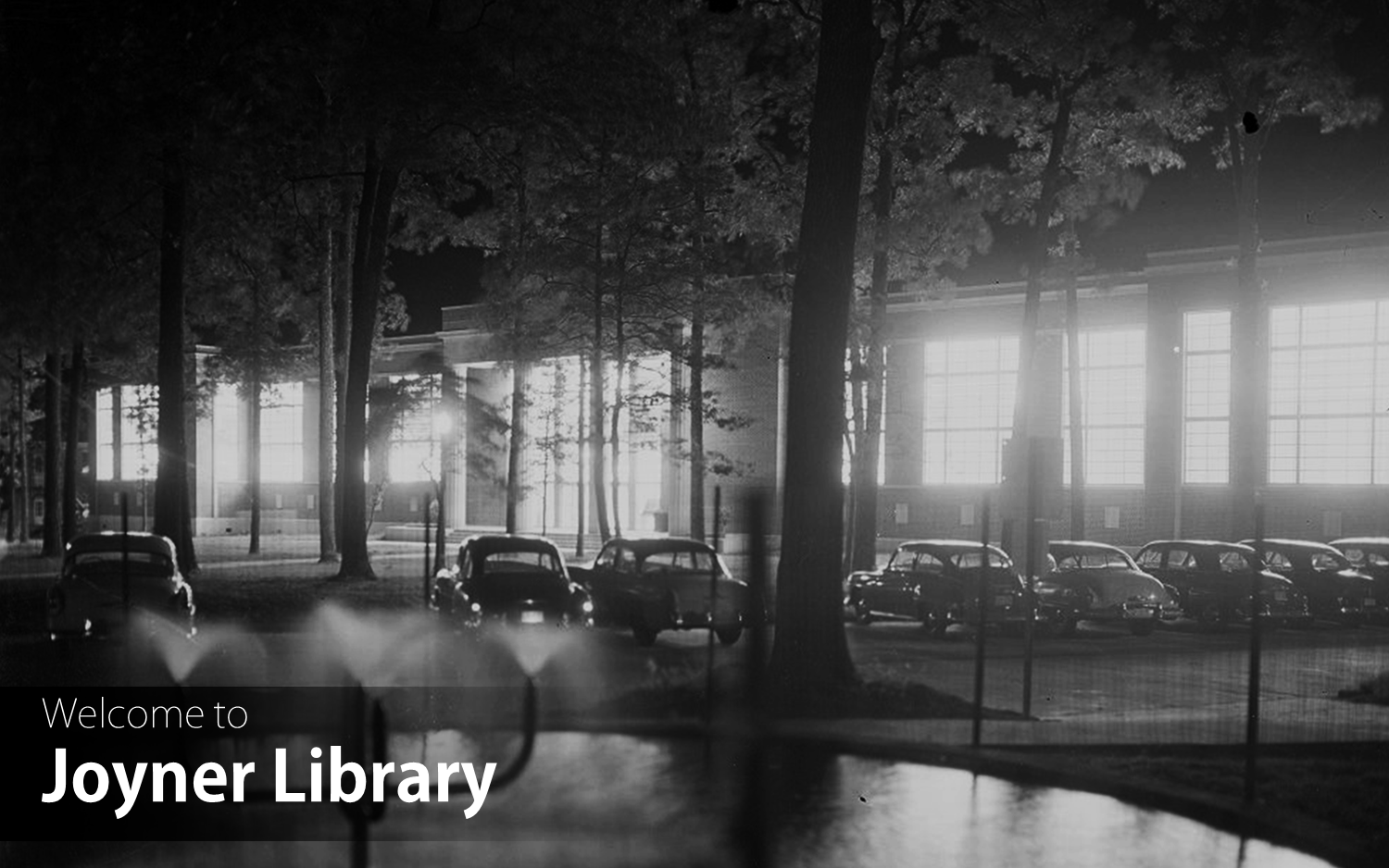 Image of Joyner Library circa 1956