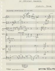 1st page, score