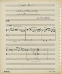 Music for Organ, page 1