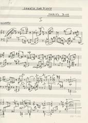 Sonata for piano, page 1