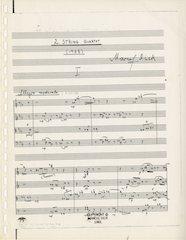 String Quartet 2, first page