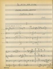 String quartet 3, page 1