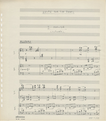 Suite for 2 pianos, page 1